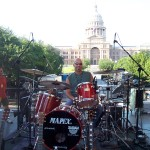 drummer tom van schaik at Austin City Limits