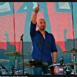 drummer tom van schaik finishing a concert